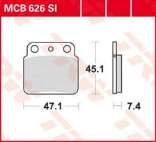 TRW Plaquettes de frein métal fritté SI MCB626SI