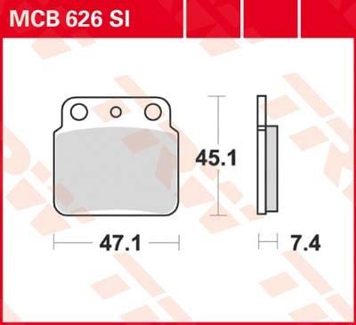 TRW SI Remblokken sinter metaal MCB626SI