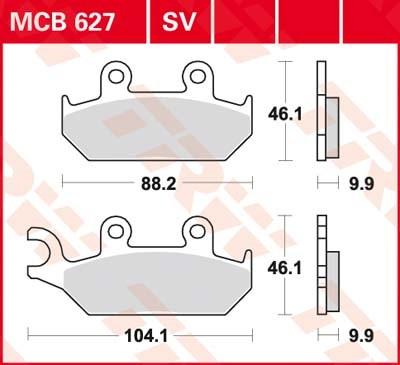 TRW Standaard remblokken MCB627