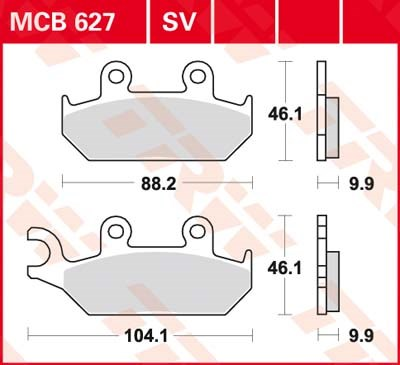 TRW SV/SH Remblokken MCB627SV