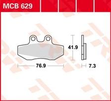 TRW Plaquettes de frein organique MCB629