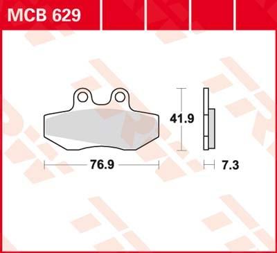 TRW Standaard remblokken MCB629