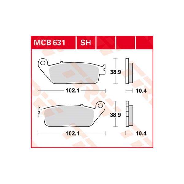 TRW SV/SH Remblokken MCB631SH