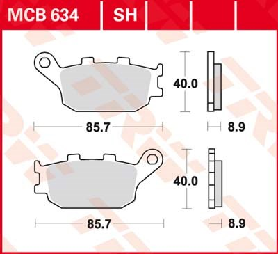 TRW SV/SH Remblokken MCB634SH