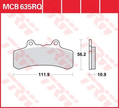 TRW racing quality remblokken MCB635RQ