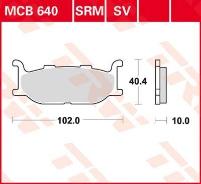 TRW Standaard remblokken MCB640