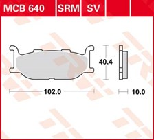 TRW Plaquettes de frein SV/SH MCB640SV