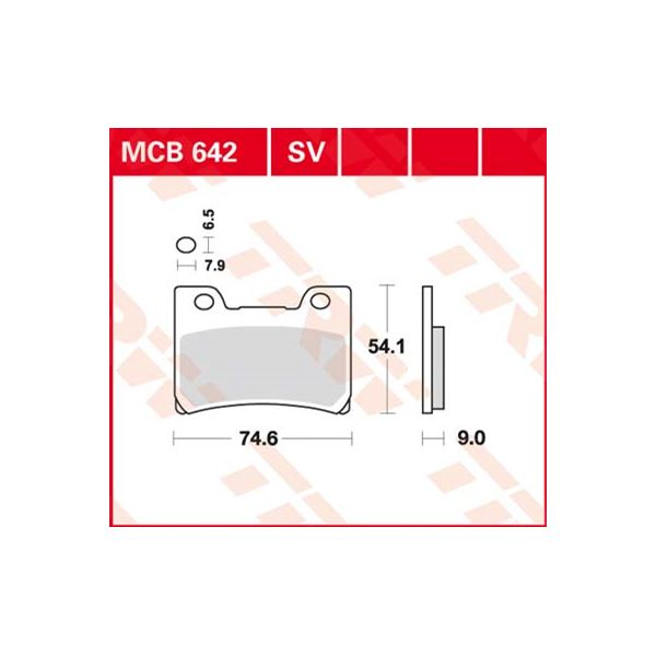 TRW Standaard remblokken MCB642