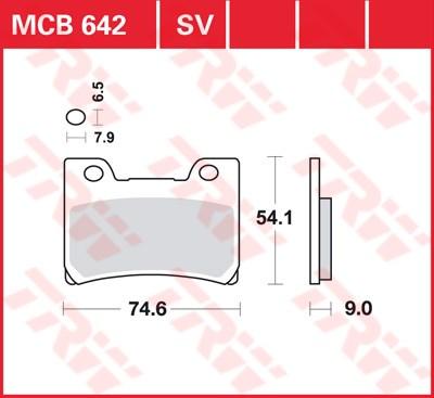 TRW SV/SH Remblokken MCB642SV