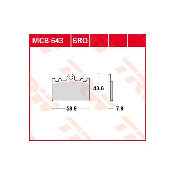 TRW Standaard remblokken MCB643