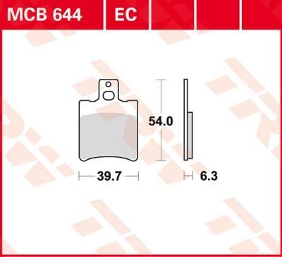 TRW Plaquettes de frein organique MCB644