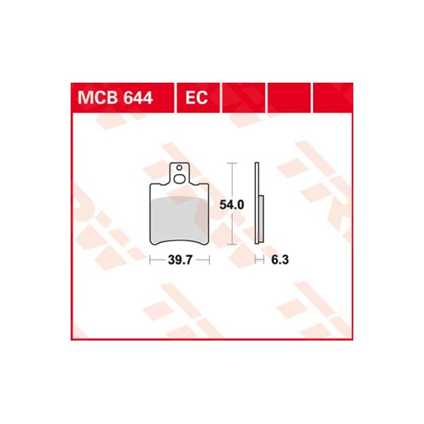 TRW Standaard remblokken MCB644