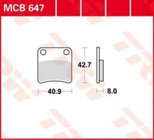 TRW Plaquettes de frein organique MCB647