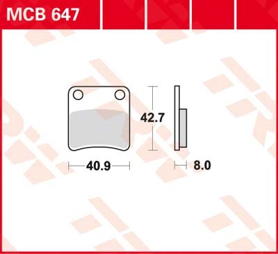TRW Standaard remblokken MCB647