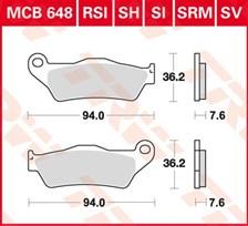 TRW Plaquettes de frein organique MCB648