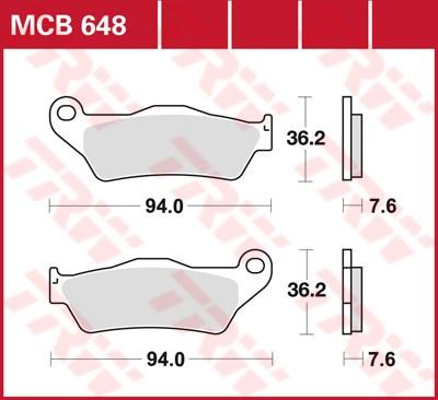 TRW SI Remblokken sinter metaal MCB648SI