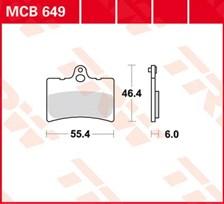 TRW Plaquettes de frein organique MCB649
