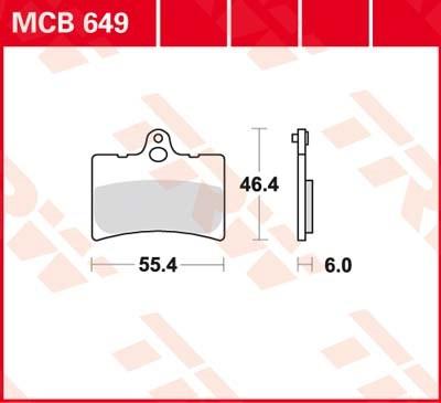 TRW Standaard remblokken MCB649