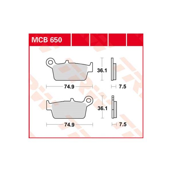 TRW Standaard remblokken MCB650