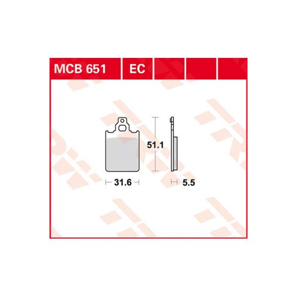 TRW Standaard remblokken MCB651