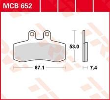 TRW Plaquettes de frein organique MCB652