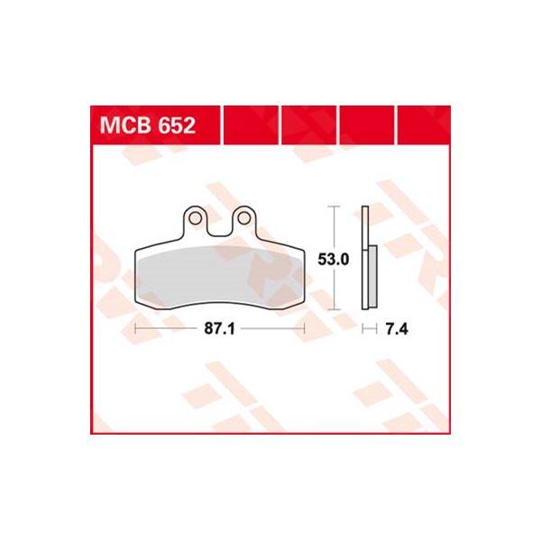 TRW Standaard remblokken MCB652