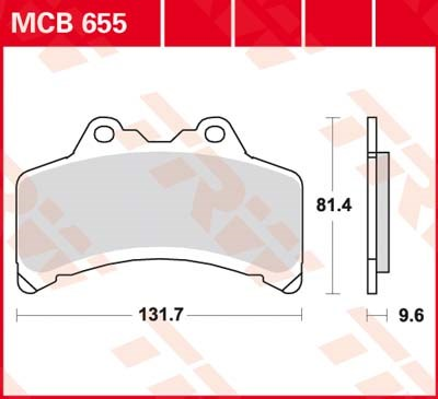 TRW Standaard remblokken MCB655