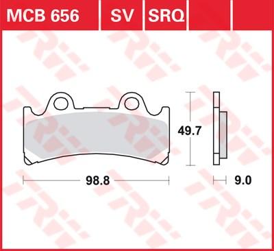 TRW SRQ remblokken MCB656SRQ