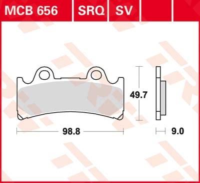 TRW SV/SH Remblokken MCB656SV