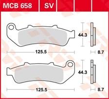 TRW Plaquettes de frein organique MCB658