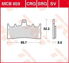 TRW Plaquettes de frein organique MCB659