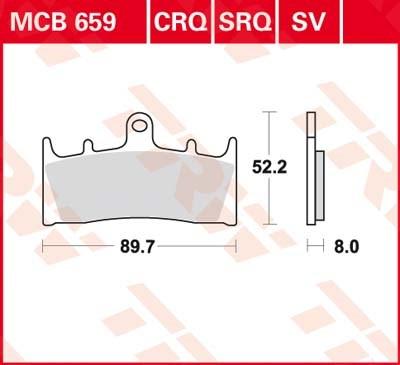 TRW Standaard remblokken MCB659