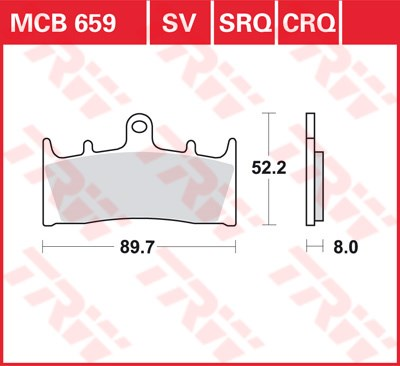 TRW CRQ remblokken MCB659CRQ