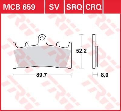 TRW SRQ remblokken MCB659SRQ