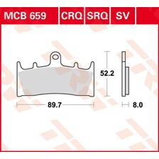 TRW Plaquettes de frein SV/SH MCB659SV