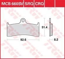 TRW Plaquettes de frein CRQ MCB660CRQ