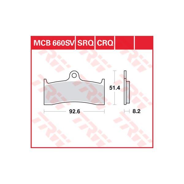 TRW CRQ remblokken MCB660CRQ