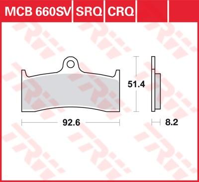 TRW SRQ remblokken MCB660SRQ