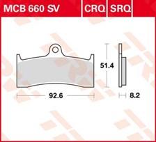 TRW Plaquettes de frein SV/SH MCB660SV