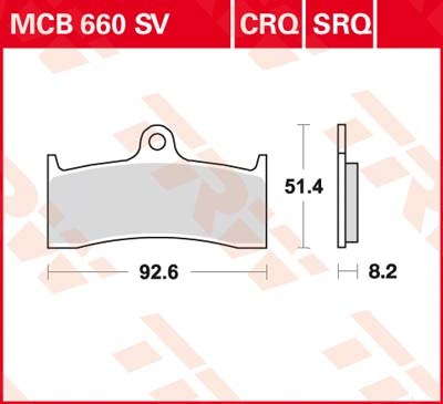 TRW SV/SH Remblokken MCB660SV