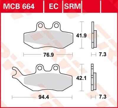 TRW Standaard remblokken MCB664
