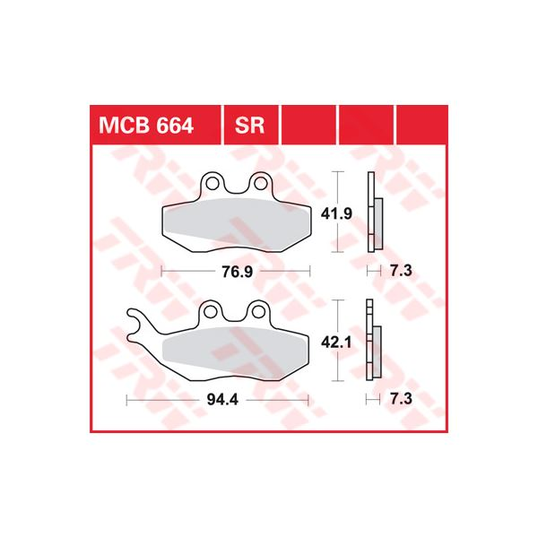 TRW Sinter metaal remblokken MCB664SR