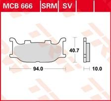 TRW Plaquettes de frein organique MCB666