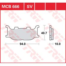 TRW Plaquettes de frein SV/SH MCB666SV