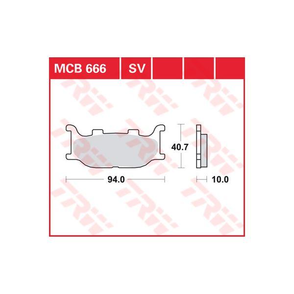 TRW SV/SH Remblokken MCB666SV