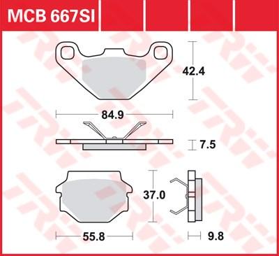 TRW SI Remblokken sinter metaal MCB667SI