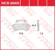 TRW Plaquettes de frein métal fritté SI MCB668SI
