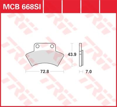 TRW SI Remblokken sinter metaal MCB668SI