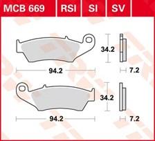 TRW Plaquettes de frein organique MCB669