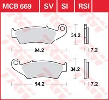 TRW Plaquettes de frein métal fritté SI MCB669SI